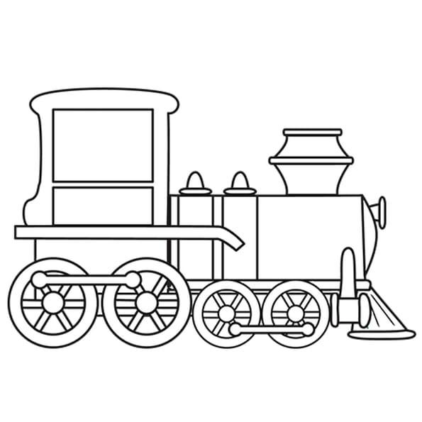 Coloriage Petit Train en Ligne Gratuit à imprimer