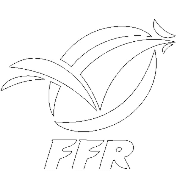 Coloriage Rugby France en Ligne Gratuit à imprimer