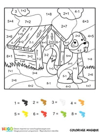 Coloriage Magique Calcul Addition.Coloriage Magique Addition Sur Hugolescargot Com