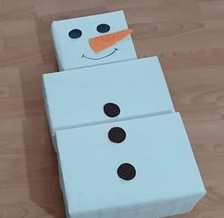 Étapes 3: Montage du bonhomme de neige
