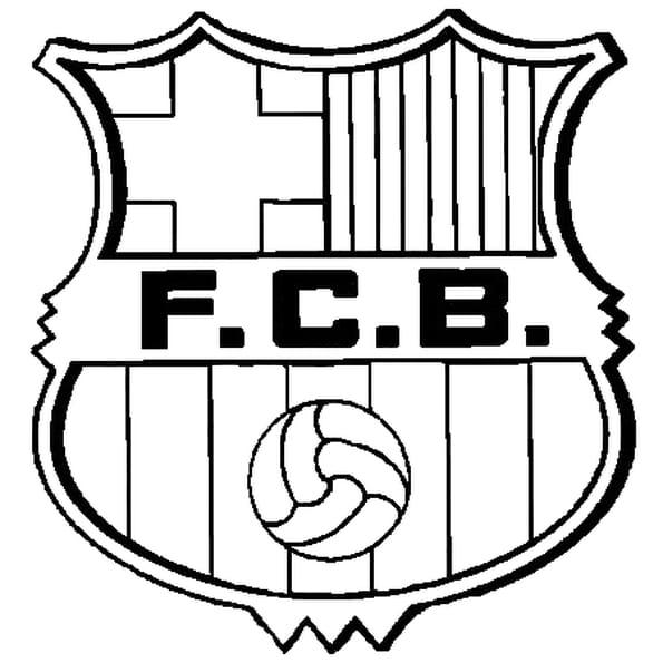 Dessin FC Barcelone a colorier
