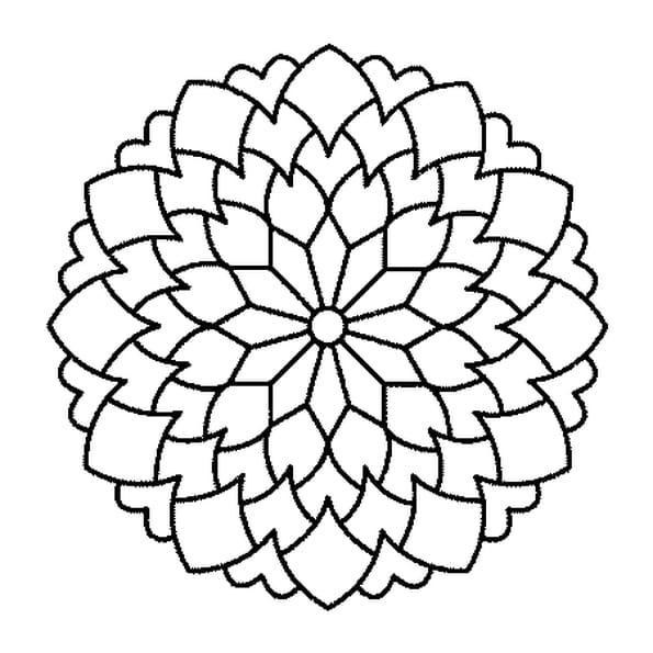 Coloriage Mandala Carnivore en Ligne Gratuit à imprimer