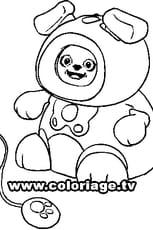 Coloriage Kidiminiz Frimousse en Ligne Gratuit à imprimer