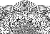 Mandalas à colorier: calendrier2020