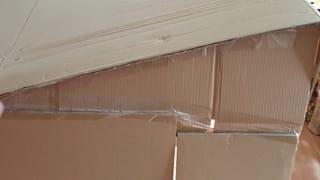 Étape 3: fixer les pentes et le carton du toit