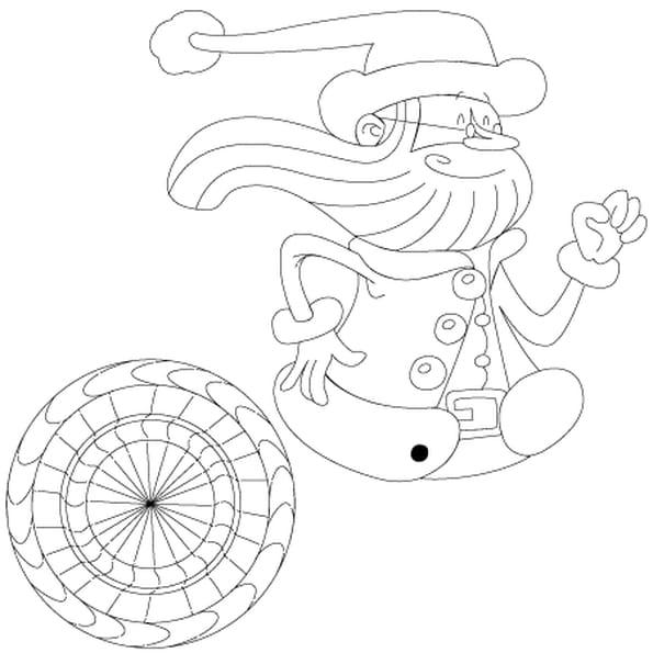 Dessin Père Noël super rapide a colorier