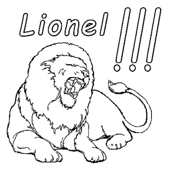 Coloriage Lionel en Ligne Gratuit à imprimer