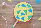 Fabriquer un tambourin avec une boîte à camembert