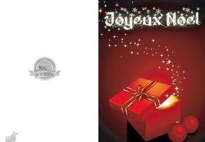 Carte de Noël cadeau magique