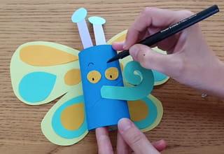Étape 5: assemblage du papillon en rouleau de papier toilette
