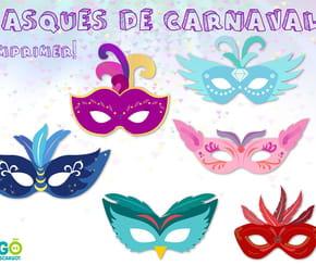 Kit masques de carnaval à imprimer