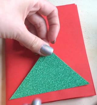 Carte de Noël sapin Étape 8