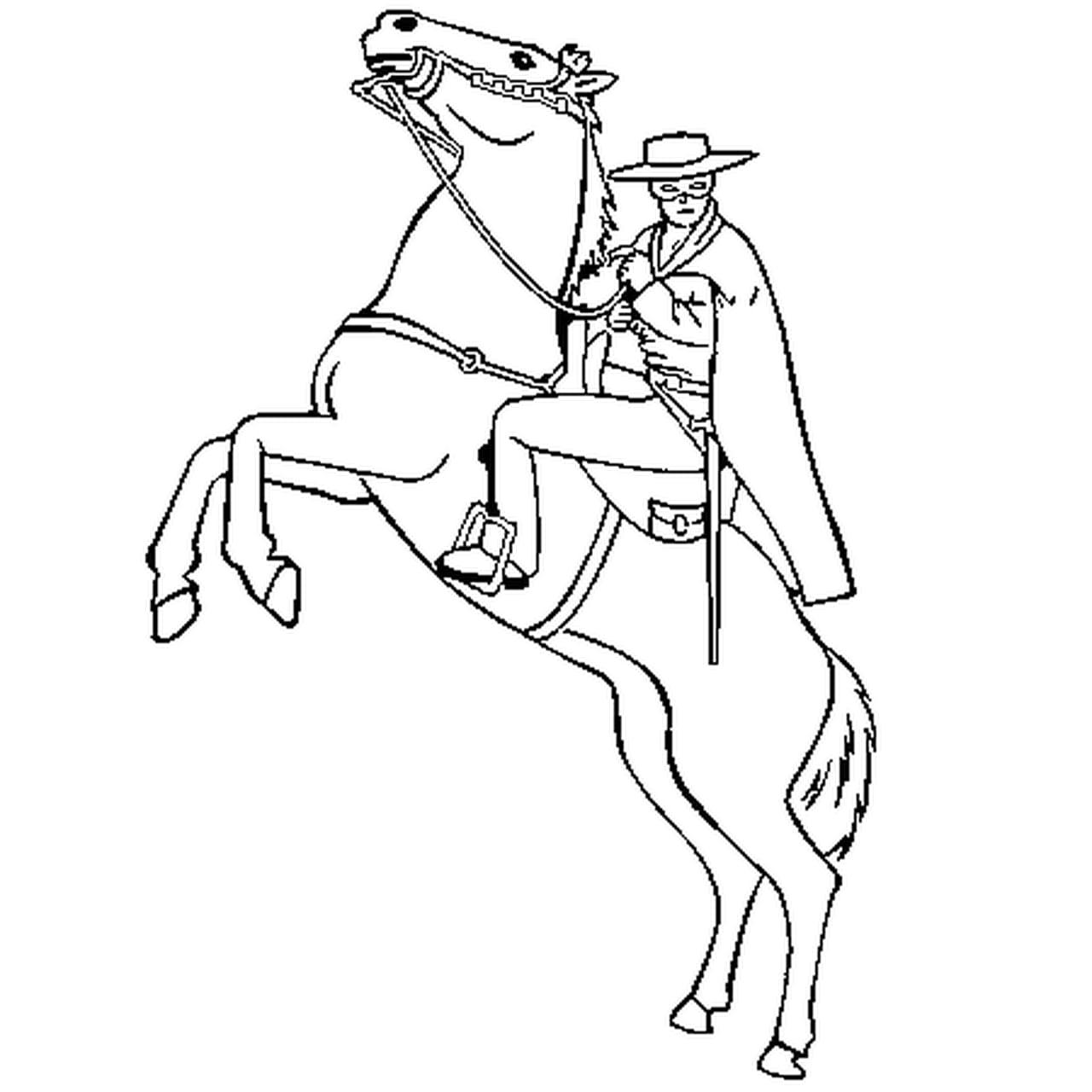 Coloriage Zorro En Ligne Gratuit à Imprimer