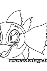 Coloriage Zooble poisson