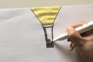 Etape 1: dessiner la lampe torche