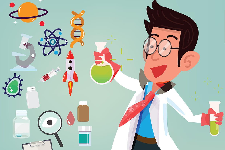 Coloriage scientifique sur - Coloriage petit scientifique ...