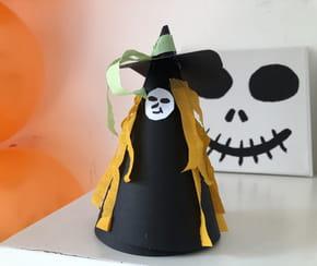 Sorcière d'Halloween à fabriquer