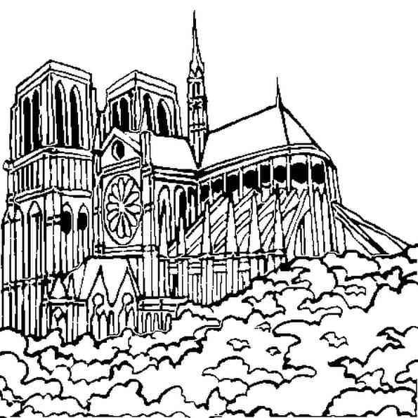 Dessin Notre Dame a colorier