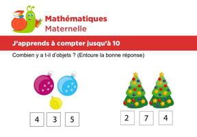 Mathématiques fiche 2, j'apprends à compter jusqu'à 10