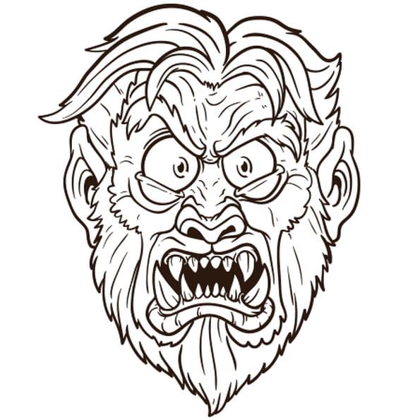 Coloriage halloween loup garou en ligne gratuit imprimer - Dessin loup garou ...