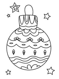 Coloriage boule de Noël guirlande