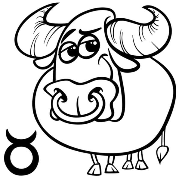 coloriage signe du zodiaque le taureau en ligne gratuit imprimer. Black Bedroom Furniture Sets. Home Design Ideas
