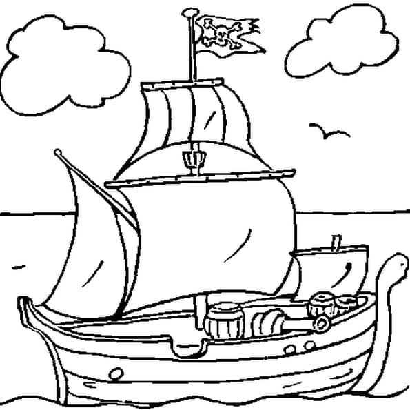Coloriage bateau pirate en ligne gratuit imprimer - Dessin petit bateau ...