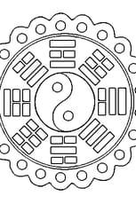 Coloriage Mandala chinois