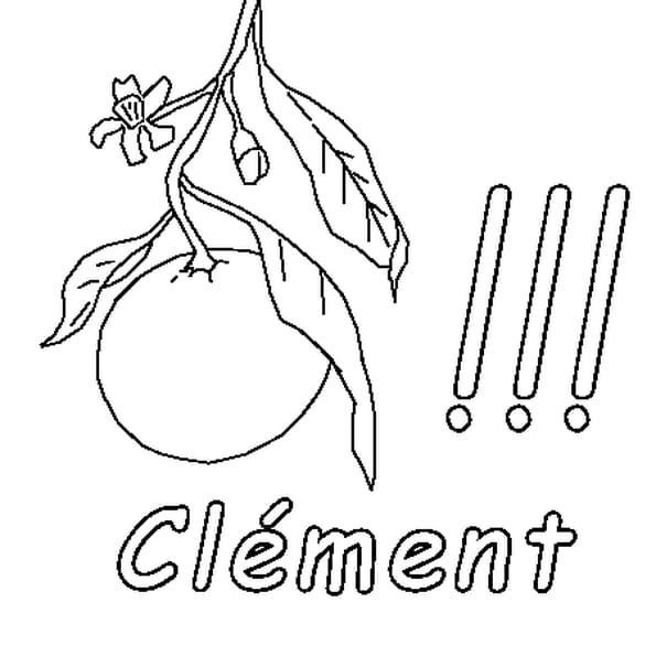 Coloriage Clément en Ligne Gratuit à imprimer