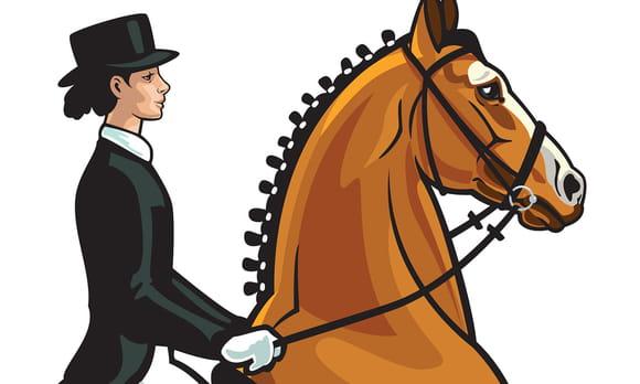 Coloriage cavaliers et chevaux
