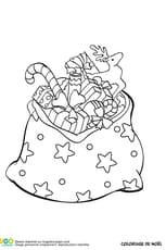 Un sac rempli de cadeaux