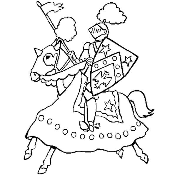 Coloriage chevalier en Ligne Gratuit à imprimer