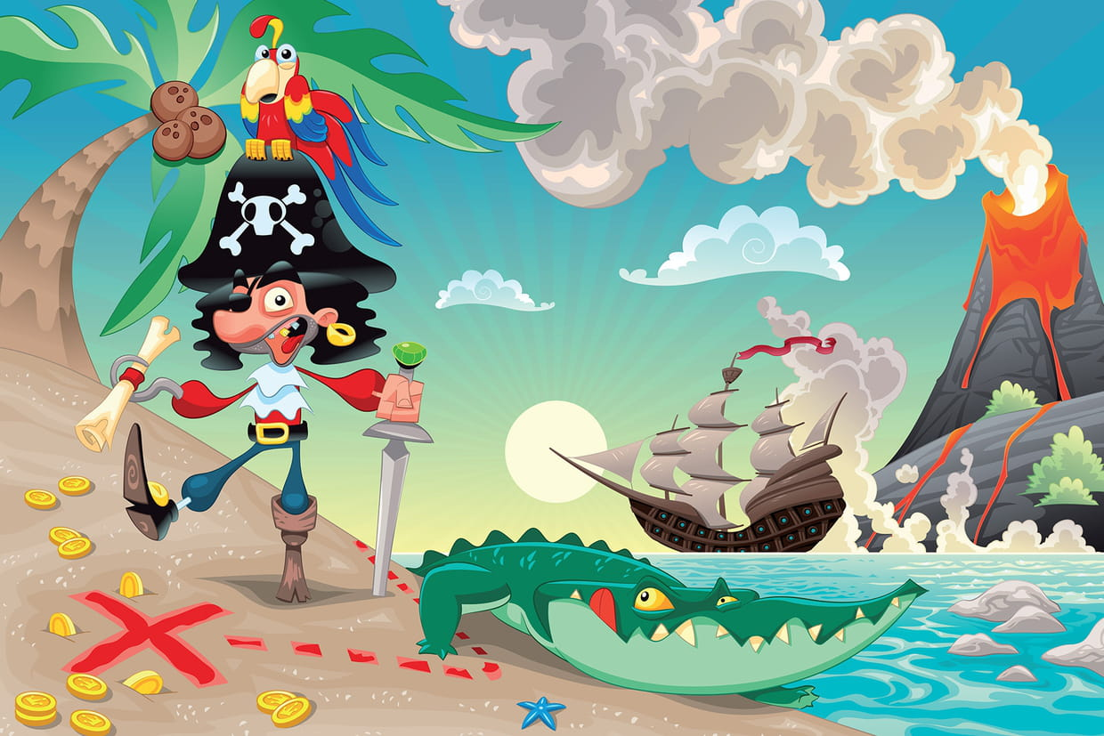 Coloriage Magique Cp Pirate.Coloriage Pirate Sur Hugolescargot Com