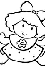 Coloriage Poupée Fille en Ligne Gratuit à imprimer