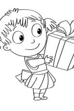 Coloriage Activités de Noël, ouvrir le cadeau