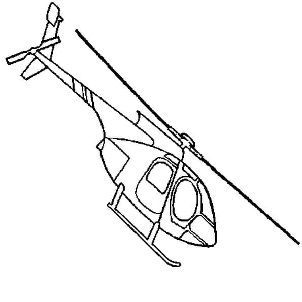 Coloriage hélicoptère en Ligne Gratuit à imprimer