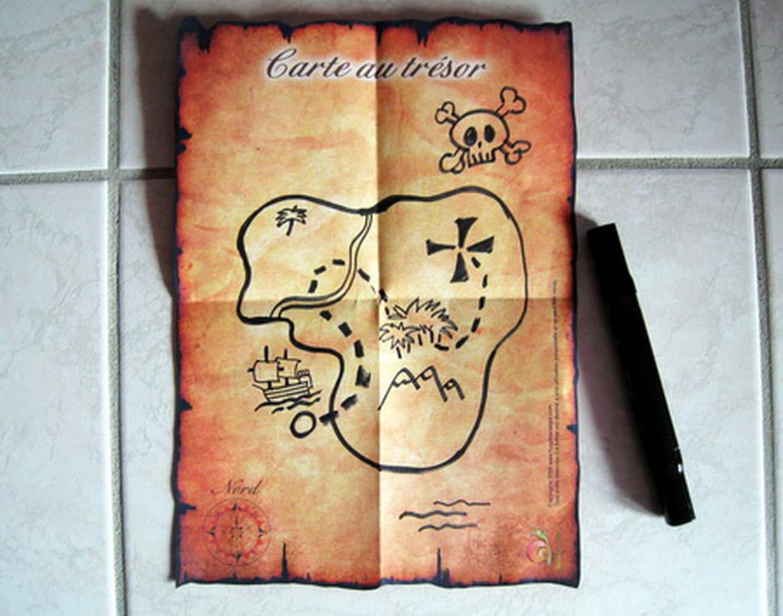 Carte Au Tresor Ce1.La Carte Au Tresor Du Pirate