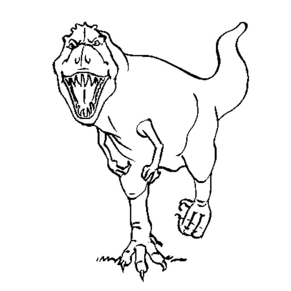 Coloriage tyrannosaure rugissant en ligne gratuit imprimer - Tyrex coloriage ...