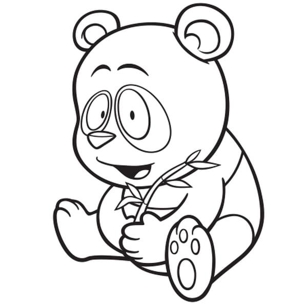Coloriage Panda Bambou en Ligne Gratuit à imprimer