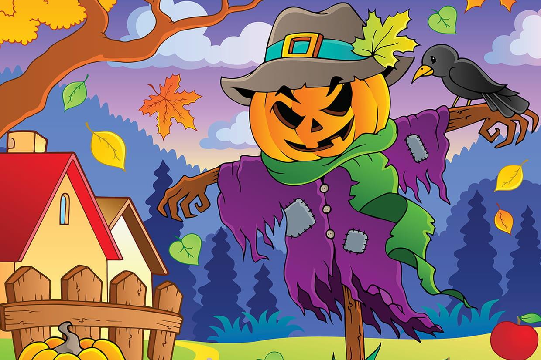 Coloriage pouvantails d 39 halloween sur - Coloriages d halloween ...