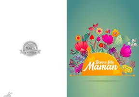 Carte fleur des champs pour la fête des Mères
