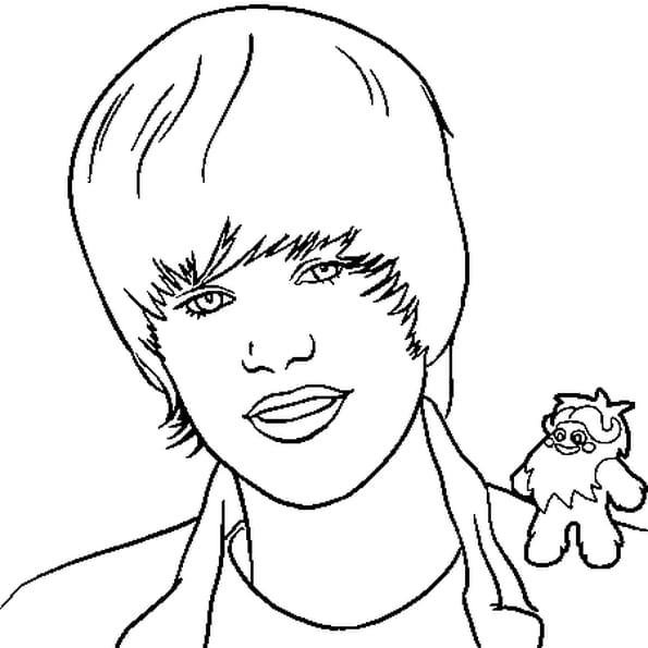 Dessin Bieber Justin a colorier
