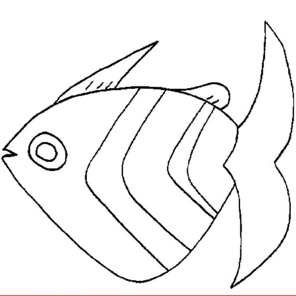 Dessin poisson avril a colorier