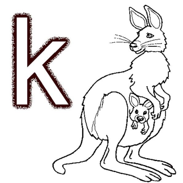Coloriage Lettre k en Ligne Gratuit à imprimer