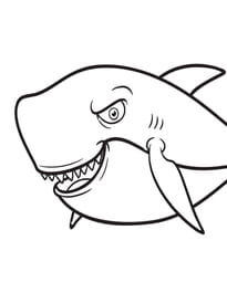 Coloriage Requin Sur Hugolescargot Com