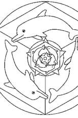 Coloriage Mandala dauphin en Ligne Gratuit à imprimer
