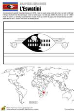 Coloriage monde drapeau Eswatini