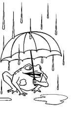 Coloriage Grenouille Avec Parapluie.Coloriage La Pluie En Ligne Gratuit A Imprimer