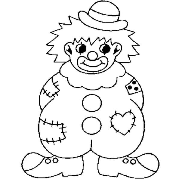Coloriage Clown Rigolo en Ligne Gratuit à imprimer