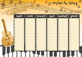 Emploi du temps musique